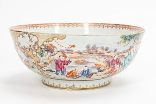 MANDARIN PALETTE CHINESE EXPORT PUNCH BOWL