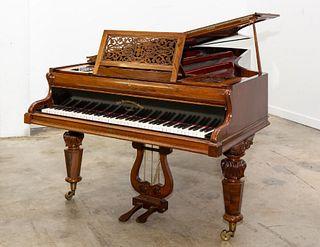 JOHN BROADWOOD & SONS ROSEWOOD CONCERT GRAND PIANO