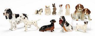 11 PCS, ROYAL DOULTON & BESWICK DOG FIGURINES