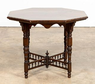 VICTORIAN MAHOGANY WINDSOR CASTLE OCCASIONAL TABLE