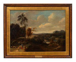 RICHARD WILSON, ENGLISH LANDSCAPE, OIL ON CANVAS