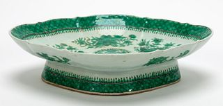 CHINESE EXPORT, GREEN FITZHUGH, FOOTED BOWL