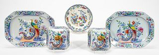 SPODE 'PHEASANT' COVERS & PLATTERS W/ PLATES, 6PC