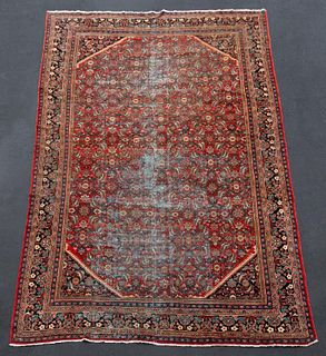 "HAND WOVEN MAHAL CARPET, APPROX. 10' 4"" x 17' 1"""