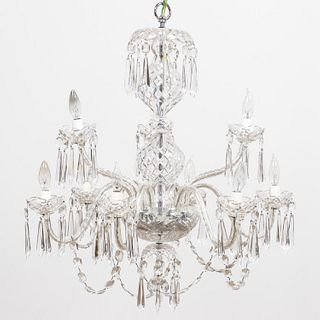 WATERFORD CRYSTAL 'CRANMORE' NINE-LIGHT CHANDELIER
