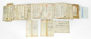 43PCS, ENGLISH LAND INDENTURES & REAL ESTATE DOCS
