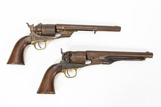 ONE 1860 ARMY COLT & ONE 1860 REPLICA REVOLVER
