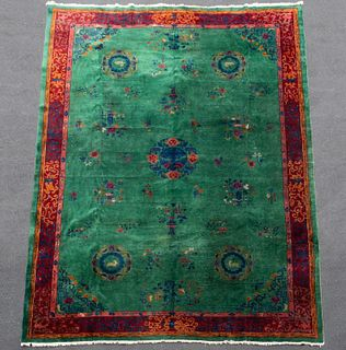 HAND WOVEN CHINESE ART DECO CARPET