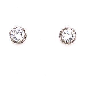 18k Gold & Diamonds Stud Earrings