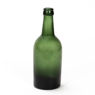 RMS CARPATHIA, SALVAGED GREEN GLASS BEER BOTTLE