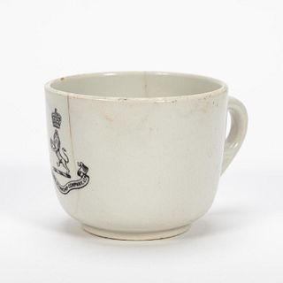 RMS CARPATHIA, SALVAGED THIRD CLASS CUP WITH LOGO