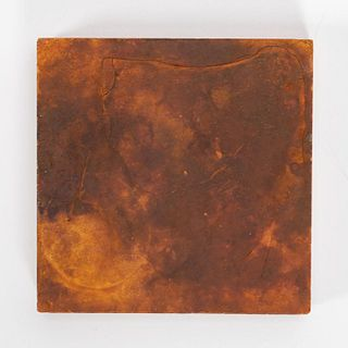 RMS CARPATHIA, SALVAGED SMALL RED FLOOR TILE