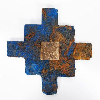 RMS CARPATHIA, SALVAGED BLUE/WHITE LINOLEUM TILES