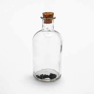 RMS CARPATHIA, SALVAGED COAL FRAGMENTS IN BOTTLE