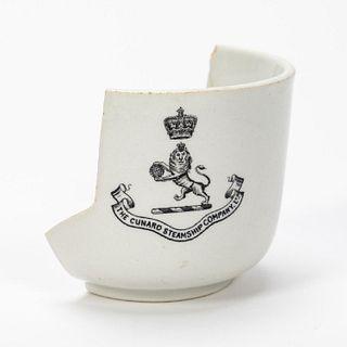 RMS CARPATHIA, SALVAGED PARTIAL THIRD CLASS CUP