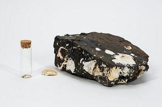 RMS CARPATHIA, SALVAGED PIECE OF COAL & BARNACLES