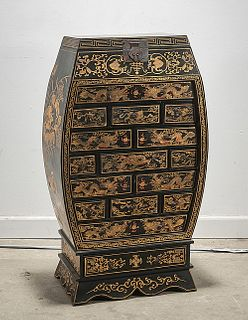 Chinese Painted Multi-Drawer Cabinet