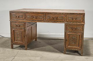 Chinese Painted Child's Desk
