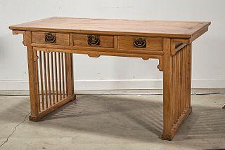 Chinese Three Drawer Desk