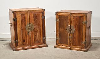 Two Chinese Wood Cabinets