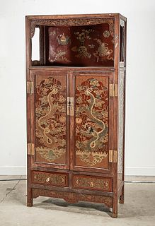 Chinese Painted Wood Cabinet