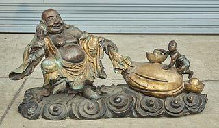 Chinese Bronze Budhai