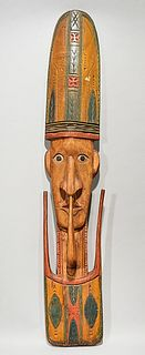 Southeast Asian Carved Wood Mask