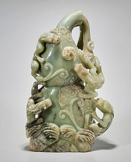 Large Chinese Jade Carving