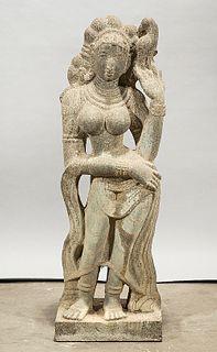 Southeast Asian Stone Hindu Figure