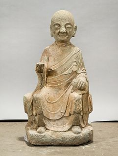 Chinese Stone Seated Figure