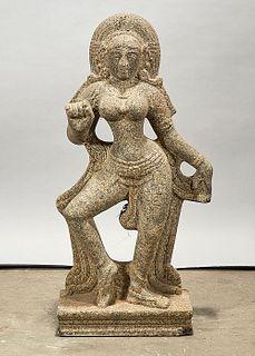Southeast Asian Carved Stone Hindu Figure