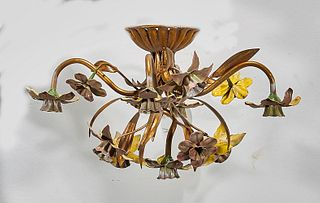 Flower Form Metal Chandelier