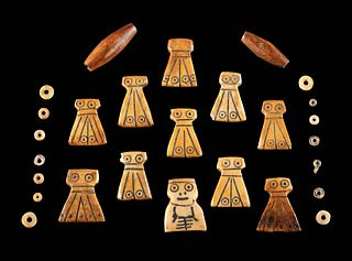 Lot of 27 Egyptian Coptic Bone Beads