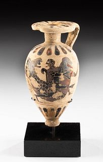 Greek Corinthian Piriform Aryballos Sea Creature w/ TL