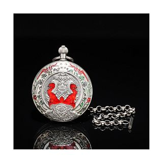 A Flower Silver Pocket Watch