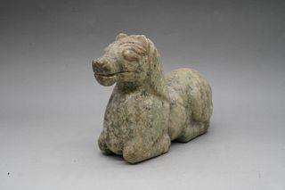 A Jade Sheep Ornament