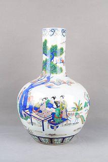 A Multicolored Figure Porcelain Tianqiuping