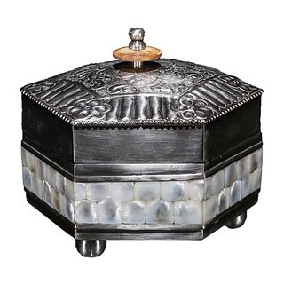 A Silver-plated Cupronickel Box