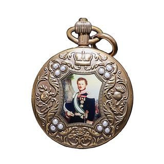 A Figure Silver Mechanical Pocket Watch