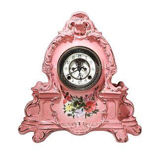 A Flower Porcelain-shelled Mechanical Clock