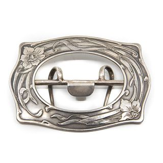 Art Nouveau Sterling Silver Foster and Bailey Buckle