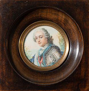 19th century Miniature Portrait Painting
