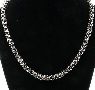 Vintage sterling silver 18-inch chain designer necklace