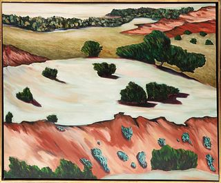Alice Neely Large landscape painting1985