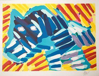 Karel Appel orig pencil Signed Lithograph