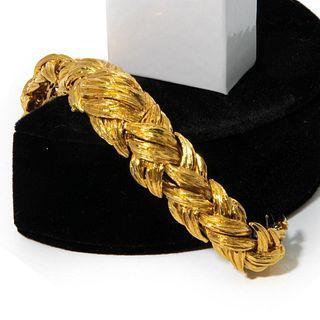 David Webb Gold 18K gold hidden Watch Bracelet