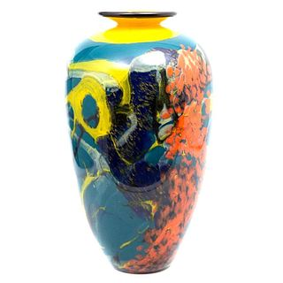 Ioan Nemtoi 20th Century Glass Vase