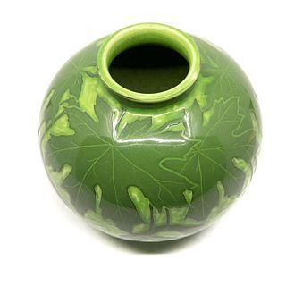 Eckberg signed Gustavberg Scraffito Art Nouveau Ceramic Vase circa 1900