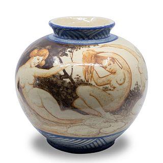 RORSTRAND art nouveau art deco ceramic Vase signed
