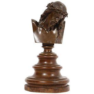 Jean-Baptiste Auguste Clesinger, French Bronze Bust of Jesus Christ, Barbedienne 1858